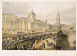 Trafalgar Square, March 7th 1863