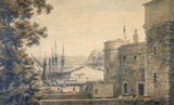 View of the Thames at Southwark: 19th century