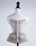 Blue silk corset: 19th century