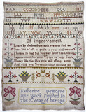 Child's needlework sampler: 1796