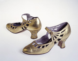 Gold leather shoes: 20th century