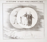 An eclipse as seen over London in 1832