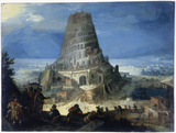 Nimrod supervising the construction of the Tower of Babel: 1559