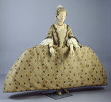 Silk dress ensemble, front view: 18th century