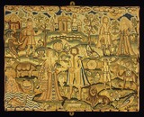 Embroidered panel: 17th Century
