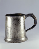 Pewter tankard: 19th century
