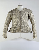 Woman's close-fitting long sleeved jacket, front view: 17th century