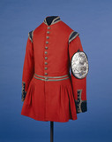Doggett coat front view with badge: 19th century