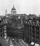 St Paul's Cathedral and Queen Victoria Street from Blackfriar's: 20th century