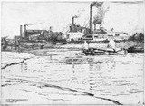 Low tide at Hammersmith: 1914