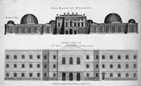 Front elevation of the Bank of England: 1771
