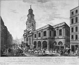 The Outside of the Royal Exchange in London: 1788