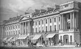 Part of east side of Regent Street: 1828