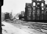 Bomb damage at Southwark Bridge: 1941