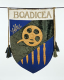 Suffrage banner commemorating Boadicea: 1908