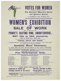 Notice for the Women's Exhibition and Sale of Work: 1909