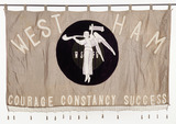 Suffrage banner of the WSPU, West Ham: 20th century