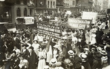 Suffragette procession: June 1908