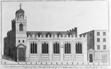 The South West Prospect of the Parish Church of St Catherine Cree, in Leadenhall Street.: 1756