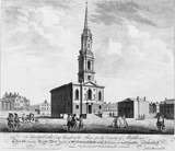 Outside North West View of St Giles's Church in the Fields: 1753