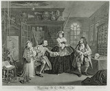 Marriage a la mode - plate 3: 1745