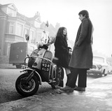 Young couple with scooter: 1967