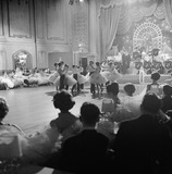Ballroom dance floor with couples: 1950-1970