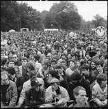 Anti-nuclear protestors gather in Hyde Park:1981