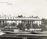 Thames Riverscape showing Custom House: 1937