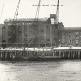 Thames Riverscape showing Butler's Wharf Extension: 1937