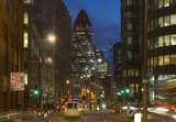 Night view of 30 St Mary Axe, also known as the Gherkin or the Swiss Re Building; 2007