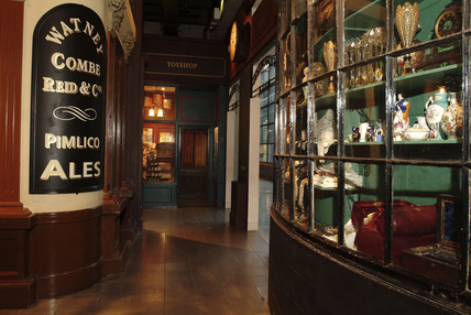 A view of the Pawnbroker shop in the Victorian Walk Gallery