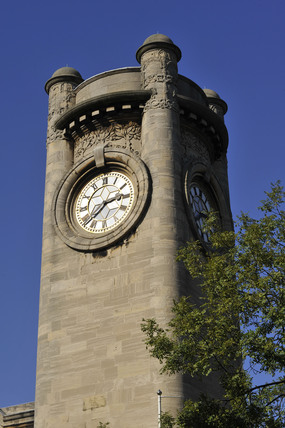 The clock tower at the Horniman Museum; 2009