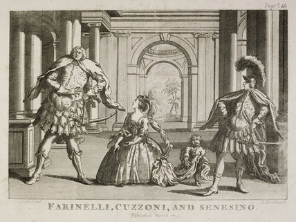 Farinelli, Cuzzoni and Senesino; 1798