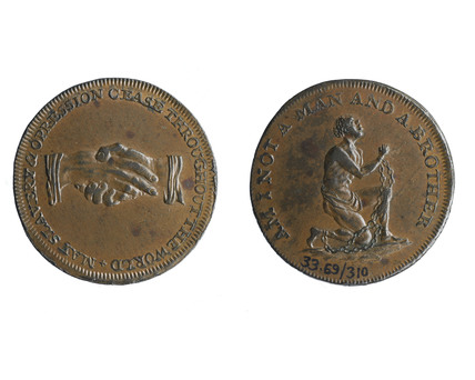 Copper anti -slavery coin; c 1750