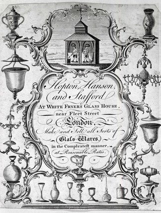 Hopton Hanson and Stafford Trade Card: c.1759