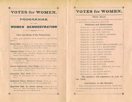 A Programme for Women's  Sunday: 1908