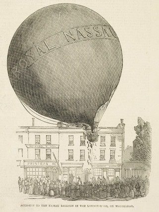 The ascent of the Nassau balloon; 1849