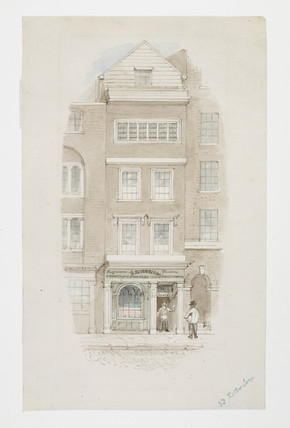 View of the exterior of 33 Fetter Lane: c. 1846-1855