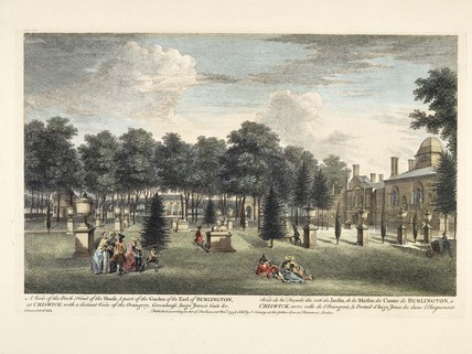 The house & part of the garden of the Earl of Burlington; 1753