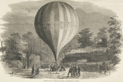 The ascent of Mr. Green's balloon; 1849