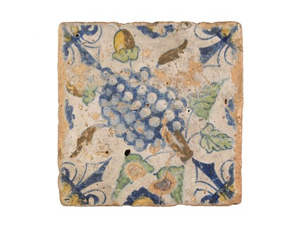 Tin-glazed tile: 17th Century