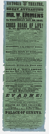 A playbill for the Royal Victoria Theatre: 1843