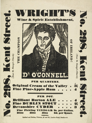 Advertisement for Wright's Wine and Spirit Establishment; 1840-1850