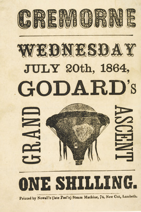 The ascent of Godard's Balloon at Cremorne Gardens; 1864