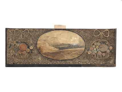A rectangular wooden dressing case: 1781-1820