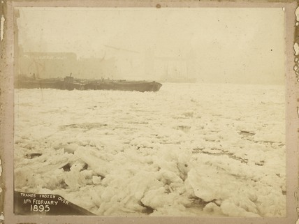 The frozen River Thames; 1895