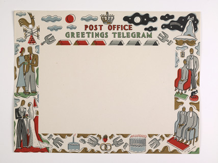 Greetings telegram  issued by the General Post Office, 1939