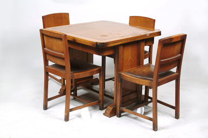Dining room table and Chairs; 1938