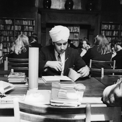 Sikh student at Holland Park Comprehensive: c.1966